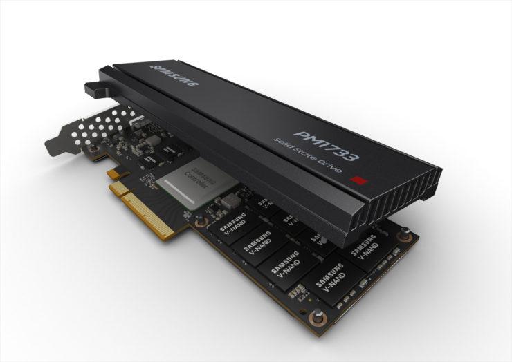 این تصویر دارای صفت خالی alt است؛ نام پروندهٔ آن Samsung-SSD-PM1733_HHHL-740x524-3.jpg است